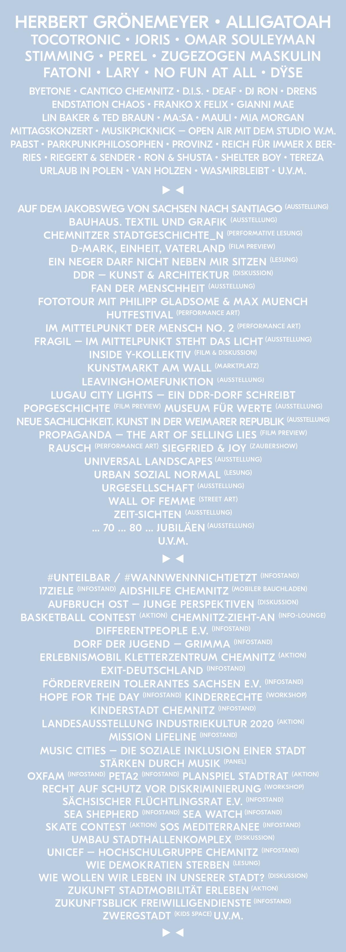 Kosmos Chemnitz Line Up